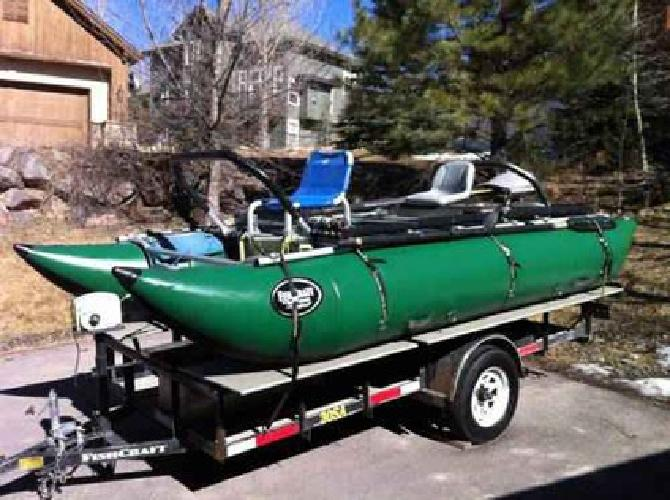 4 650 Awesome 16 Ft Fishing Cataraft And Trailer Combo