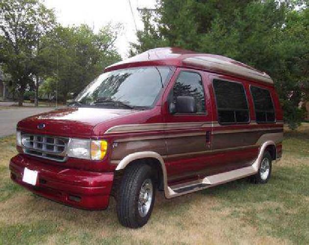 4 900 1999 ford e 250 econoline waldoch conversion van 5 4 v8 triton 117k for sale in genoa. Black Bedroom Furniture Sets. Home Design Ideas