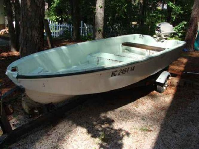 500 14ft Jon Boat W Gas And Elec Motor For Sale In