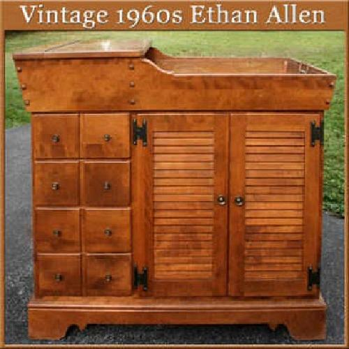 500 1960s Ethan Allen Traditional Early American Dry Sink