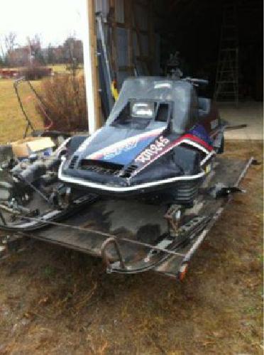 500 1984 yamaha srv snowmobile trailer and spare for 500 yamaha snowmobile