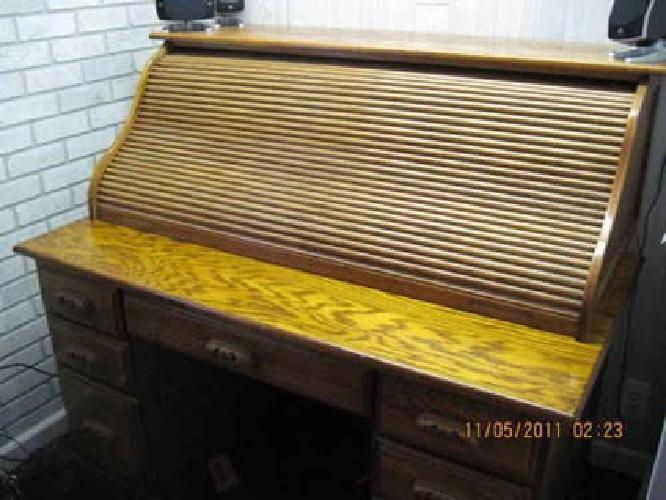 $500 awesome oak roll-top desk