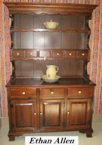 500 China Hutch Ethan Allen Old Tavern Pine For Sale In