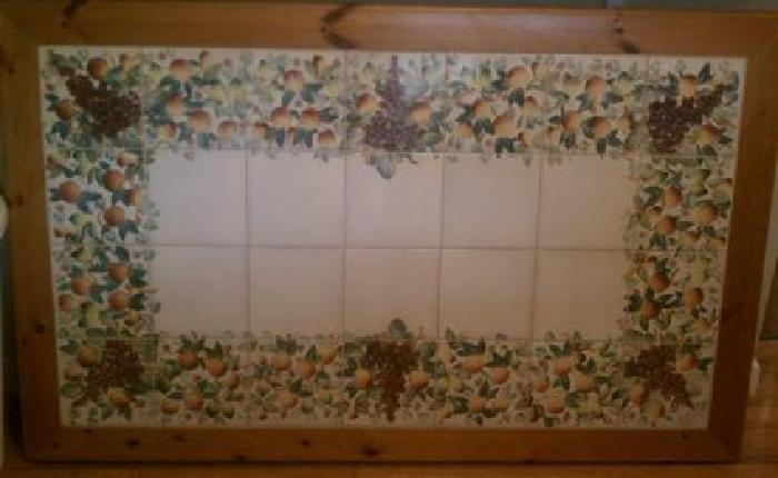 500 Nicola Fasano Hand Painted Tile Dining Table For Sale