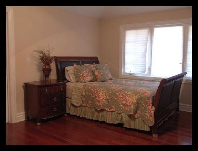 $500 OBO Cherry Wood Queen Bedroom Set for sale in Des