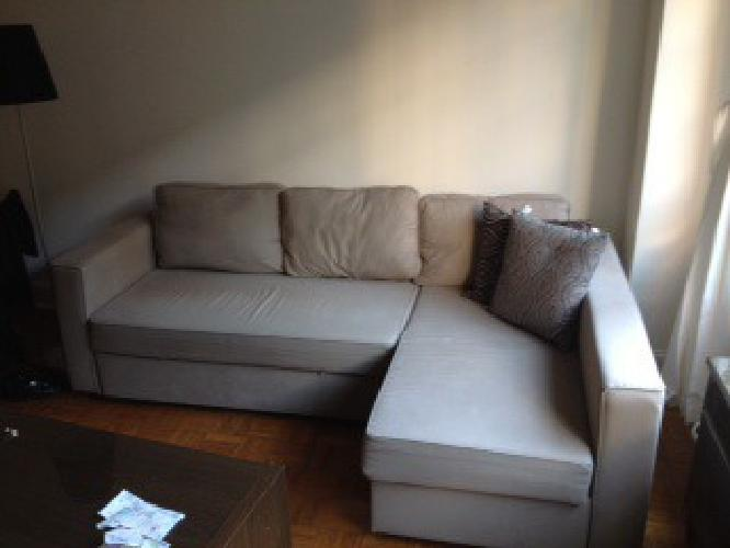 500 obo manstad corner sofa bed w storage for sale in new york new york classified. Black Bedroom Furniture Sets. Home Design Ideas
