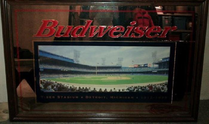 500 Obo Tiger Stadium Budweiser Mirror For Sale In