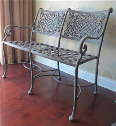 $500 Outdoor Patio Furniture Bench and Table for sale in