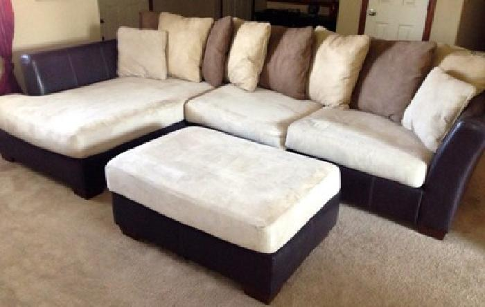 500 Sectional Couch With Lounge Chaise And Ottoman For Sale In Wichita Kansas Classified