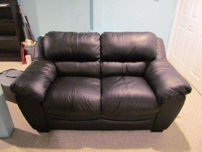 bobs furniture leather sofa and loveseat
