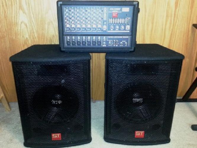 500 soundtech 200w pa system for sale in des moines iowa classified. Black Bedroom Furniture Sets. Home Design Ideas