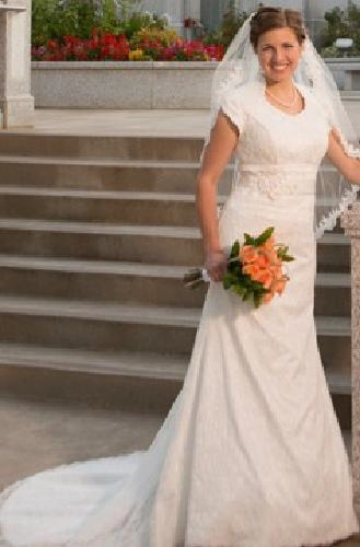500 temple ready off white size 8 wedding dress for for Temple ready wedding dresses