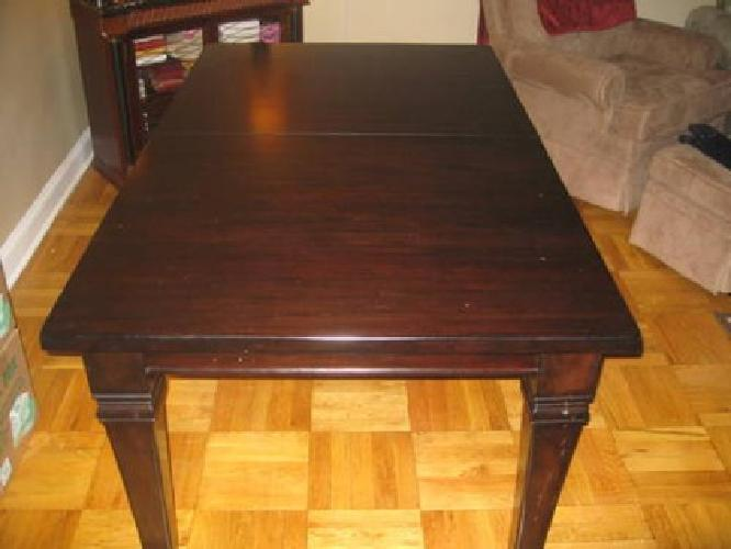 500 Used Pottery Barn Montego Straight Leg Dining Table With Leaf Expresso