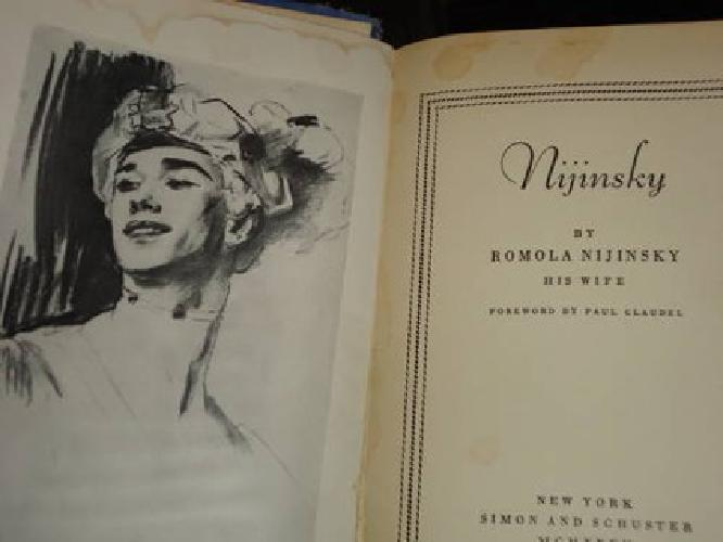 $50 Autographed Nijinsky Biography by his Wife