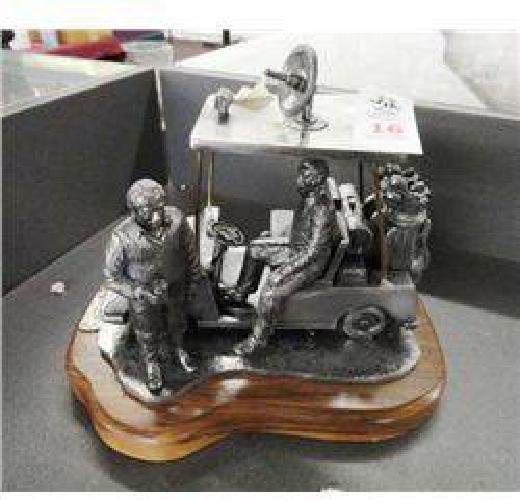 $50 Hand Crafted Pewter Golf Cart - Weekend Warriors - Solid Heavy Piece