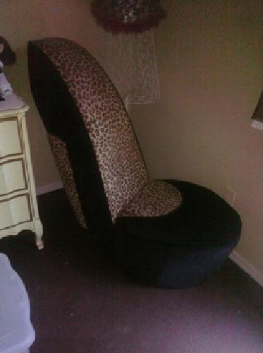 Cheetah Print Heel Chair Leopard High Shoe Sister Kinda ...