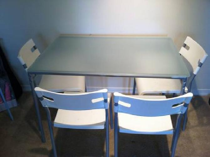50 ikea glasstop dining table 4 chairs for sale in for Ikea jobs orlando fl
