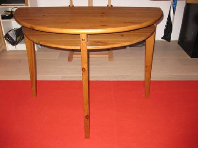 50 ikea leksvik half moon side table for sale in