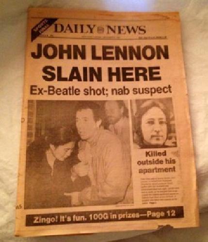 $50 John Lennon Daily News