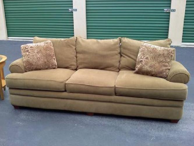 50 Lazy Boy Tan Camel Colored Full Size Sofa For Sale In