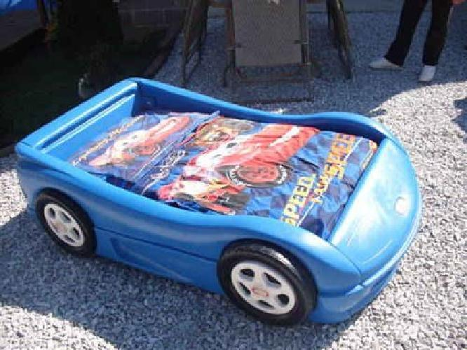 $50 Little Tykes Hotwheel Toddler Bed with Mattress and CARS Comforter Set