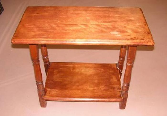 50 vintage hard rock maple side table for sale in