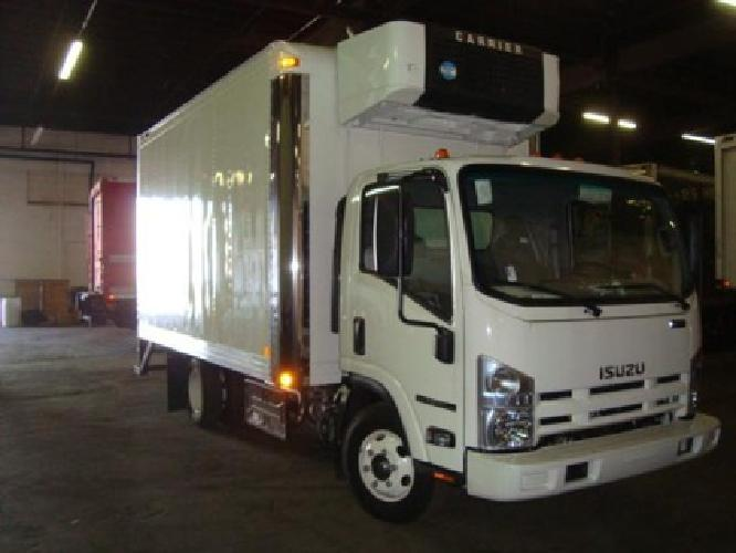 $52,406 2012 Isuzu NPR HD 14' Reefer Truck - Morgan body - Carrier unit