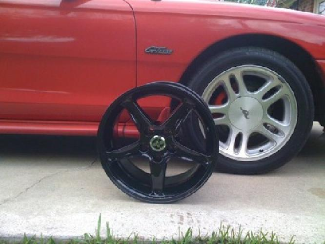 550 obo black 1995 style cobra r mustang wheels for sale. Black Bedroom Furniture Sets. Home Design Ideas