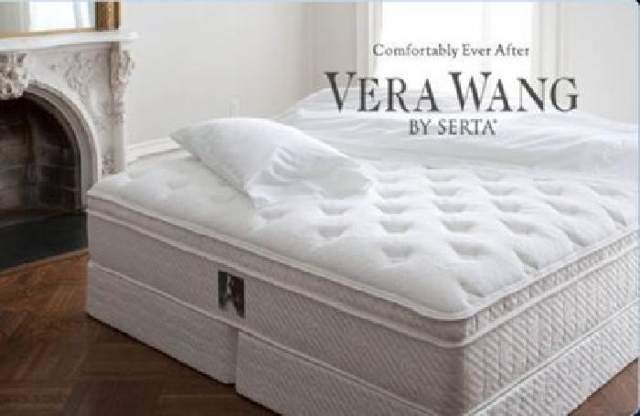 599 Vera Wang King Size Fidelity Euro Pillowtop Mattress