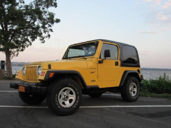 5 000 2000 yellow jeep wrangler sport for sale in valley cottage new york classified. Black Bedroom Furniture Sets. Home Design Ideas