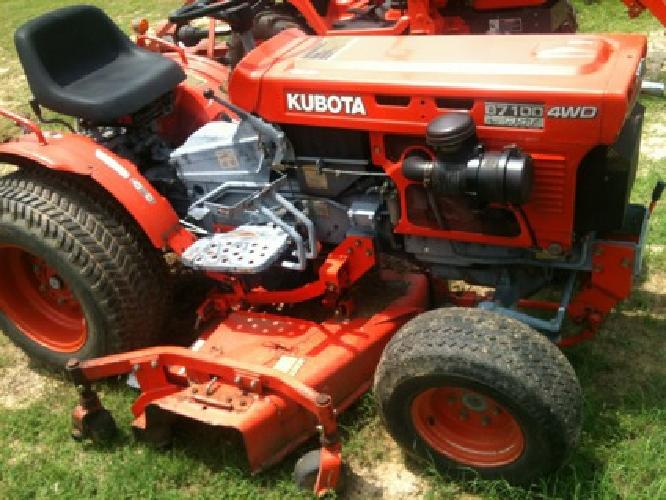 $5,100 Kubota B7100 Tractor W/Belly Mower*4x4*Hst*3-Point Hookups*Nice