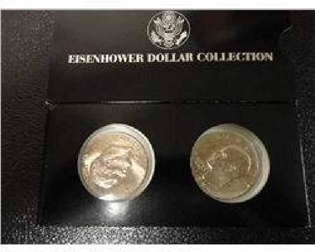 $5 1977 Ike Dollars-Lot of 2 in Display