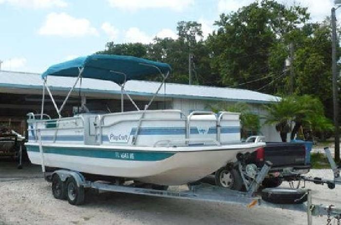 5 500 1995 Play Craft 20ft Deck Boat For Sale In Holly