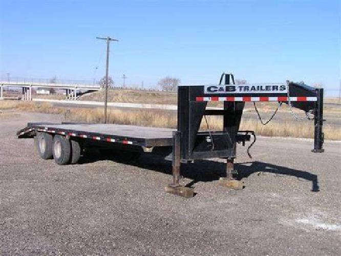 5 800 2007 c b goose neck 25 foot trailer for sale in