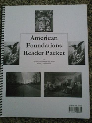 $5 BYU-Idaho book: American Foundations Reader Packet 2009 edition - Kerry Web