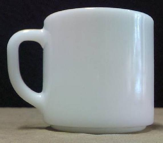 $5 Federal White Milk Glass Mug