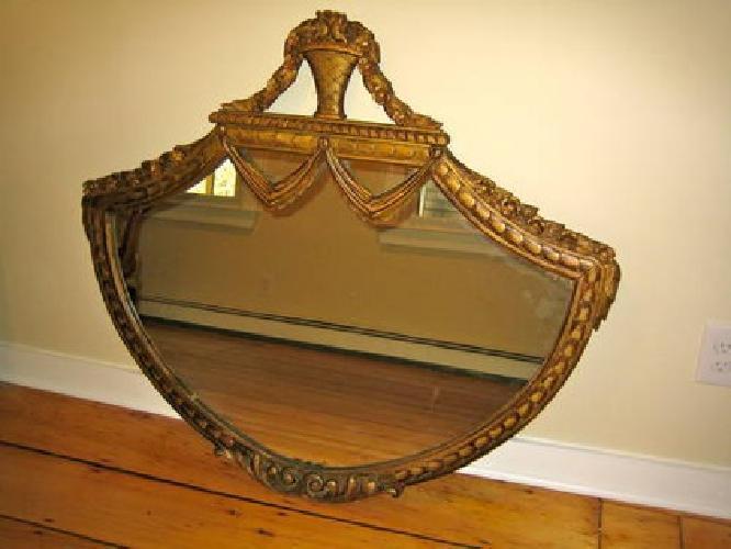 $600 Antique Fan-shaped Wall Mirror