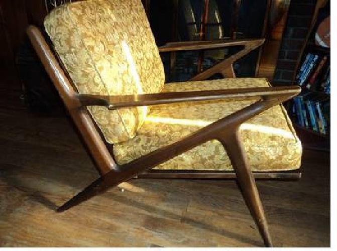 $600 Danish Modern Poul Jensen Z Chair.Imported By Selig.Mid Century