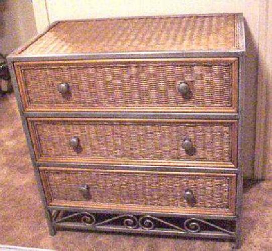 600 Pier 1 Wicker And Metal Bedroom Set For Sale In Port Jefferson