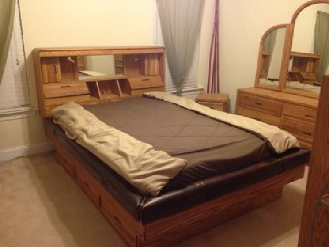 600 Solid Oak Complete 7 Piece Bedroom Set For Sale In Ladson South Carolina Classified