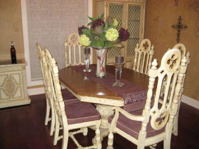 600 stanley dining room set with china cabinet buffet for sale in