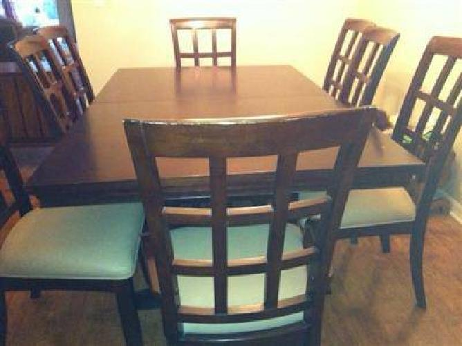 600 trestle dining room table and 8 chairs for sale in