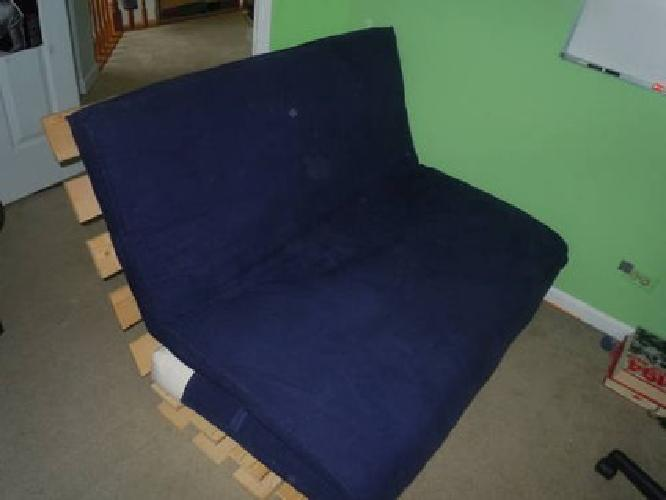 $60 Lounger futon frame and mattress and cover