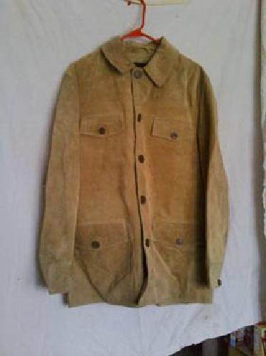 $60 New tan leather car coat