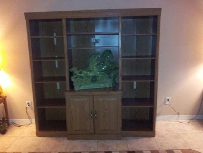 $60 OBO Wood Wall Unit Entertainment Center