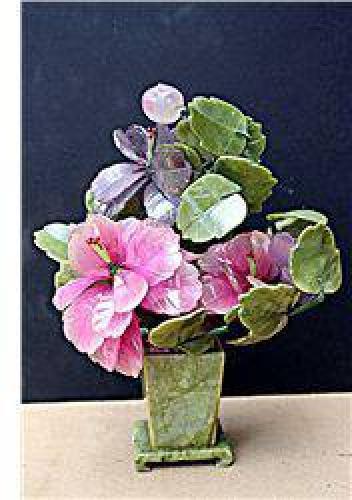 $60 Siberian Jade - Pink & Purple Flowers Bonsai Tree J-0029