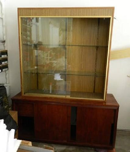 60 used china cabinet 2 pc section for sale in houston for Chinese furniture houston tx