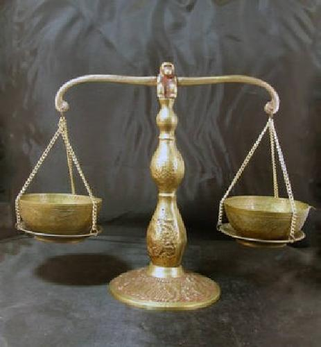 60 Vintage Brass Monkey Balance Scale Scales Of Justice