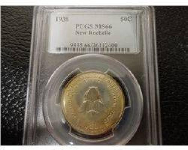 $625 1938 New Rochelle Half- Pcgs Ms66