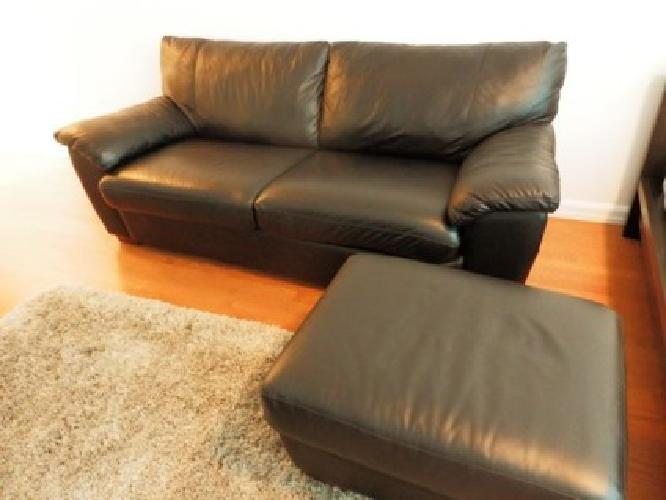 650 Ikea Leather Sofa Bed Ottoman For Sale In Manhattan
